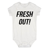 Fresh Out Birth Baby Bodysuit One Piece White
