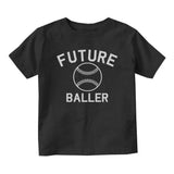 Future Baller Baseball Sports Baby Toddler Short Sleeve T-Shirt Black