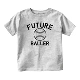 Future Baller Baseball Sports Baby Toddler Short Sleeve T-Shirt Grey