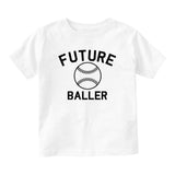Future Baller Baseball Sports Baby Toddler Short Sleeve T-Shirt White