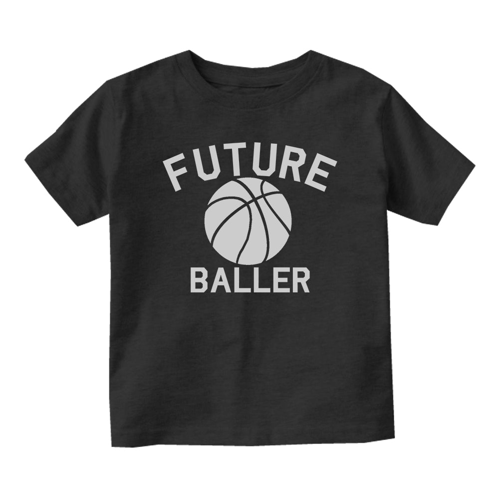 Future Baller Basketball Sports Baby Toddler Short Sleeve T-Shirt Black