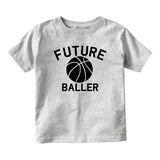 Future Baller Basketball Sports Baby Toddler Short Sleeve T-Shirt Grey