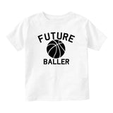 Future Baller Basketball Sports Baby Toddler Short Sleeve T-Shirt White