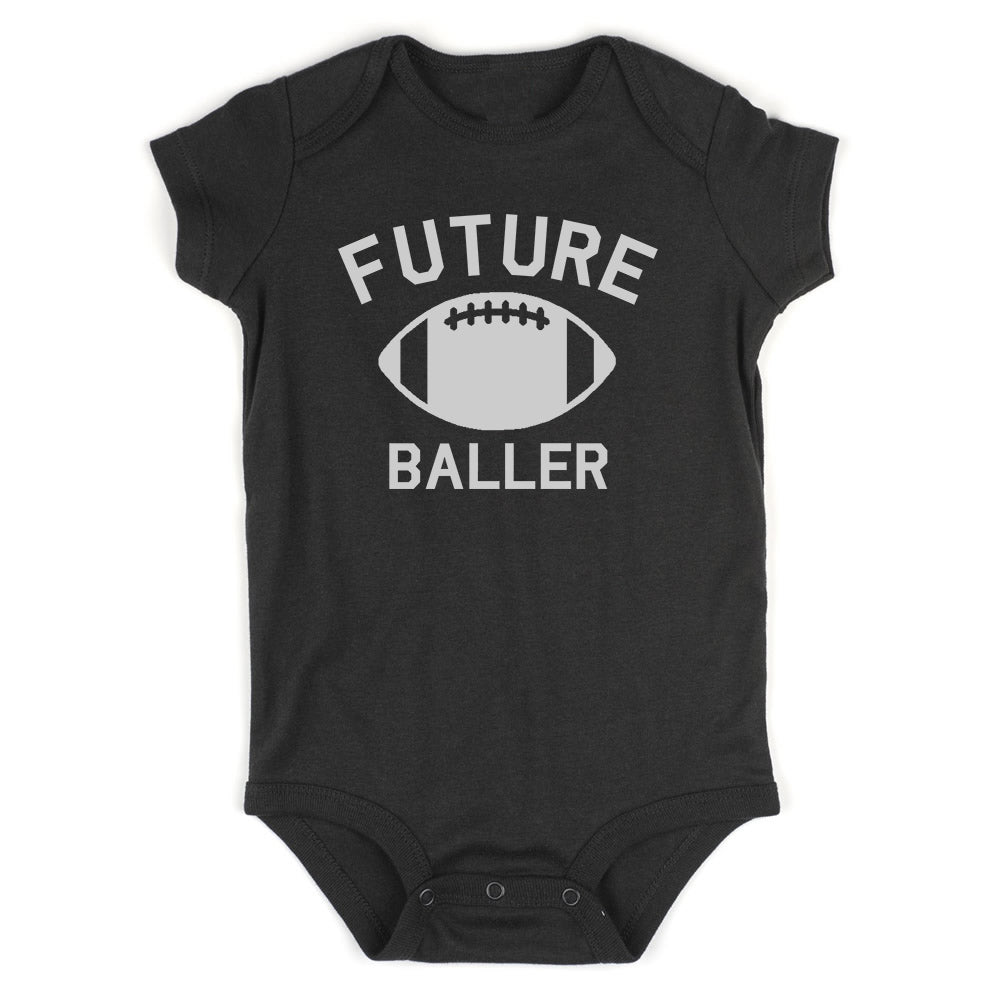 Future Baller Football Sports Baby Bodysuit One Piece Black