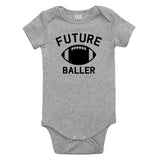 Future Baller Football Sports Baby Bodysuit One Piece Grey