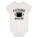 Future Baller Football Sports Baby Bodysuit One Piece White