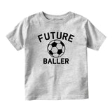 Future Baller Soccerl Sports Baby Toddler Short Sleeve T-Shirt Grey