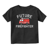 Future Firefighter Firetruck Baby Toddler Short Sleeve T-Shirt Black