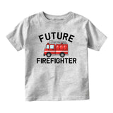 Future Firefighter Firetruck Baby Toddler Short Sleeve T-Shirt Grey