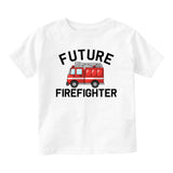 Future Firefighter Firetruck Baby Toddler Short Sleeve T-Shirt White