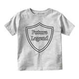 Future Legend Shield Baby Infant Short Sleeve T-Shirt Grey