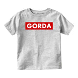 Gorda Chunky Baby Baby Toddler Short Sleeve T-Shirt Grey