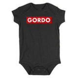 Gordo Chunky Baby Baby Bodysuit One Piece Black