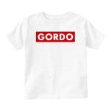 Gordo Chunky Baby Baby Toddler Short Sleeve T-Shirt White