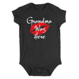 Grandma Was Here Baby Bodysuit One Piece Black