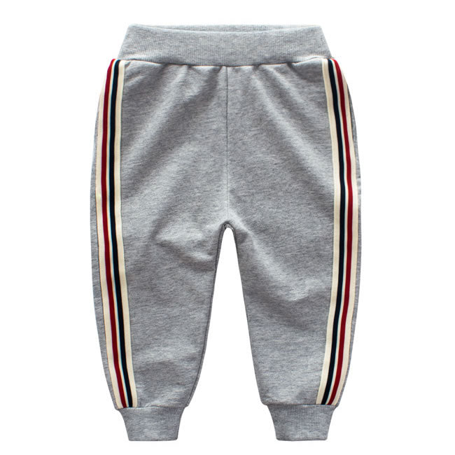 Grey Multi Striped Toddler Boys Sweatpants