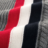 Red White And Blue Back Striped Toddler Boys Knitted Sweater