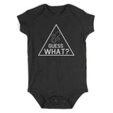 Guess What Announcement Baby Bodysuit One Piece Black
