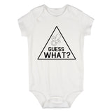 Guess What Announcement Baby Bodysuit One Piece White
