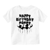 Happy Birthday Mommy Balloons Baby Toddler Short Sleeve T-Shirt White