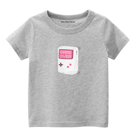 Grey Game Over Gamer Graphic RM Toddler Boys T-Shirt