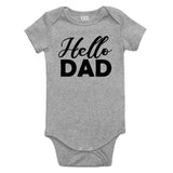 Hello Dad Pregnancy Announcement Baby Bodysuit One Piece Grey