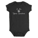 I Am Your Sunshine Baby Bodysuit One Piece Black
