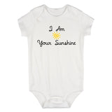 I Am Your Sunshine Baby Bodysuit One Piece White