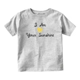 I Am Your Sunshine Baby Infant Short Sleeve T-Shirt Grey