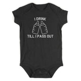 I Drink Till I Pass Out Funny Baby Bodysuit One Piece Black