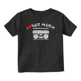 I LOVE 80S MUSIC Baby Infant Short Sleeve T-Shirt Black
