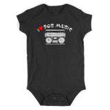 I LOVE 90S MUSIC Baby Bodysuit One Piece Black