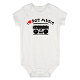 I LOVE 90S MUSIC Baby Bodysuit One Piece White