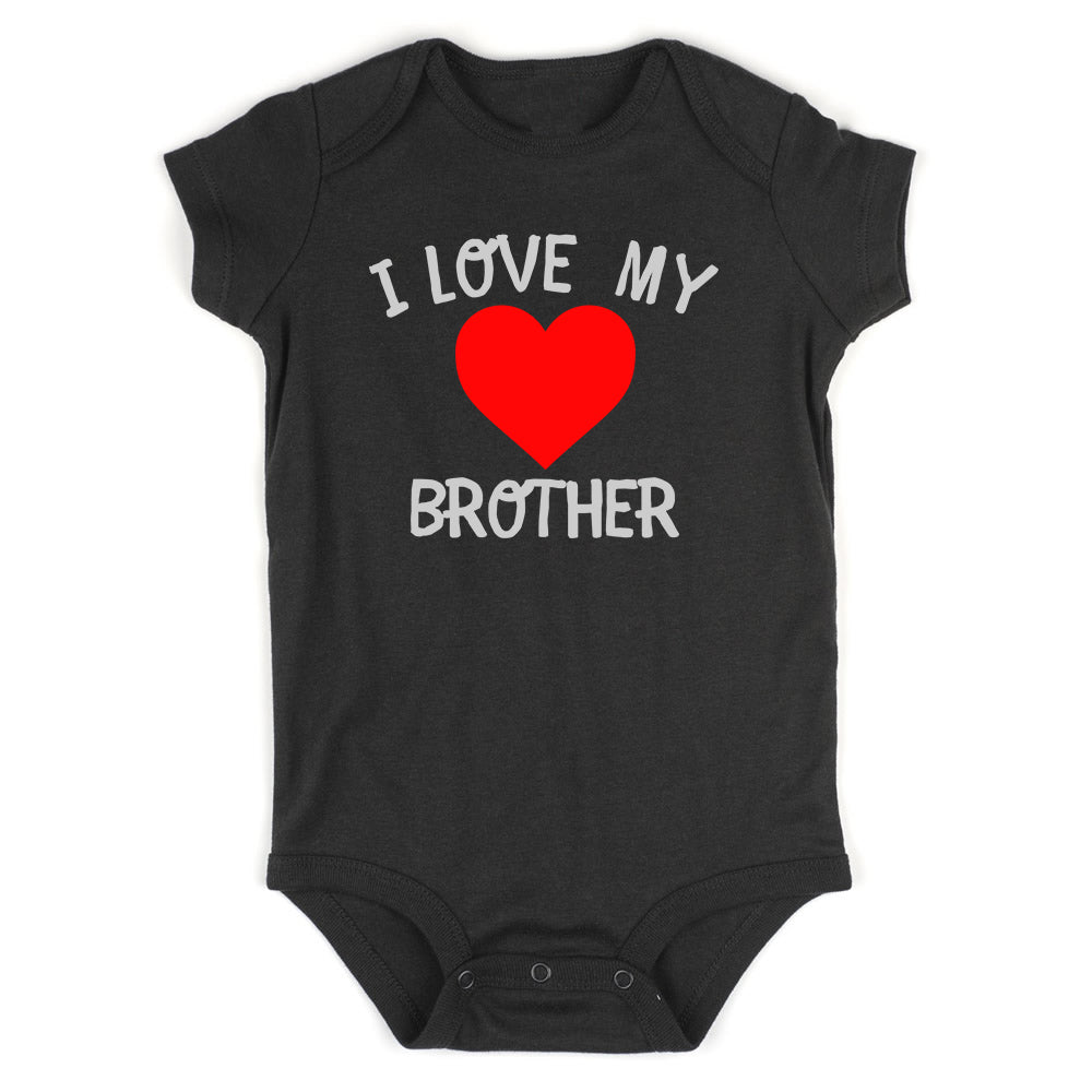 I Love My Brother Baby Bodysuit One Piece Black