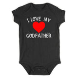 I Love My Godfather Baby Bodysuit One Piece Black