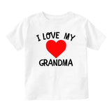 I Love My Grandma Baby Toddler Short Sleeve T-Shirt White