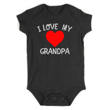 I Love My Grandpa Baby Bodysuit One Piece Black