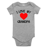 I Love My Grandpa Baby Bodysuit One Piece Grey