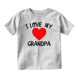 I Love My Grandpa Baby Toddler Short Sleeve T-Shirt Grey