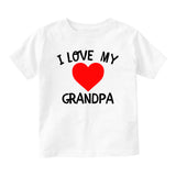 I Love My Grandpa Baby Toddler Short Sleeve T-Shirt White