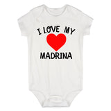 I Love My Madrina Baby Bodysuit One Piece White