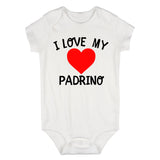 I Love My Padrino Baby Bodysuit One Piece White
