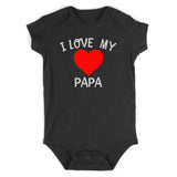 I Love My Papa Baby Bodysuit One Piece Black