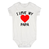 I Love My Papa Baby Bodysuit One Piece White
