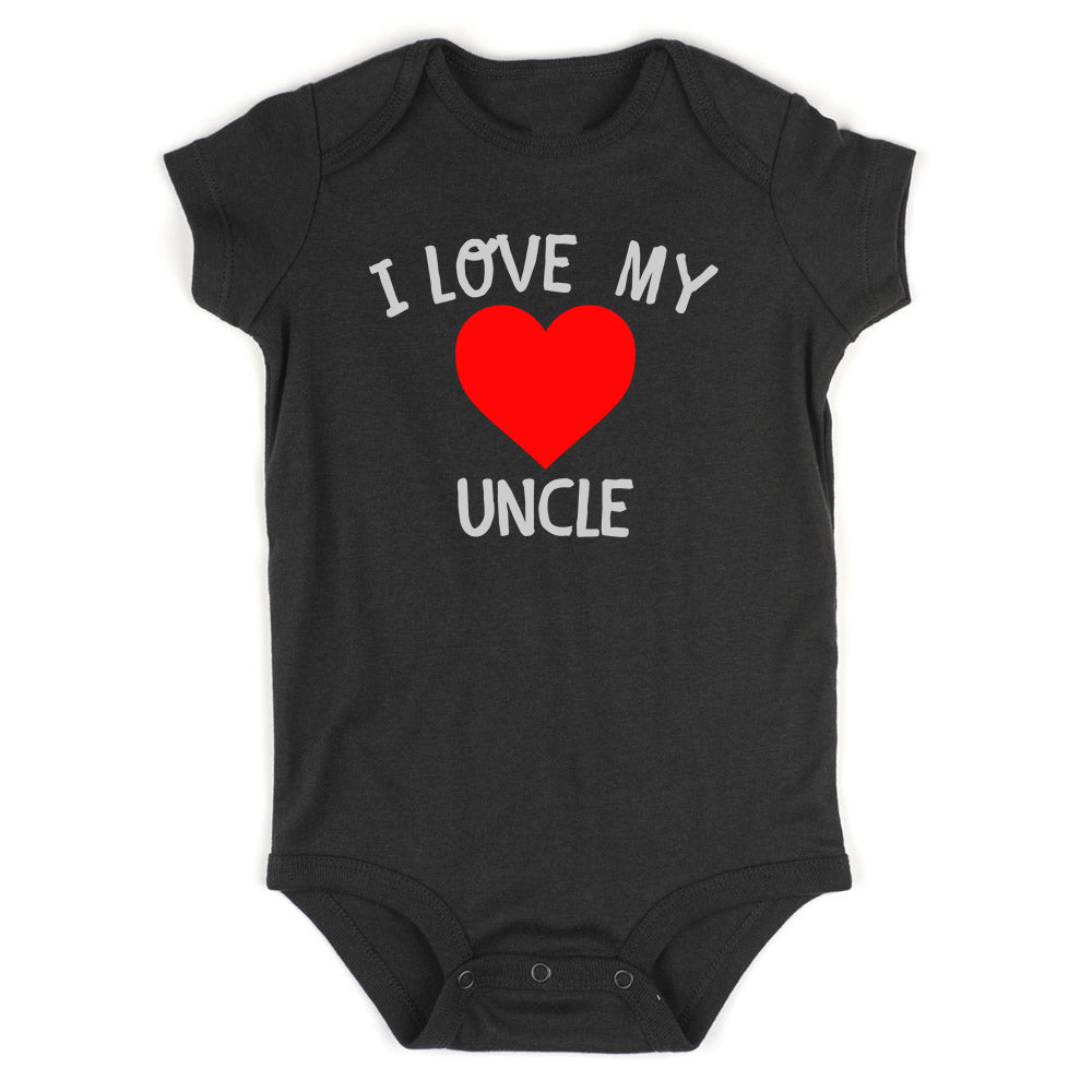 I Love My Uncle Baby Bodysuit One Piece Black