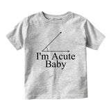 Im Acute Baby Baby Infant Short Sleeve T-Shirt Grey
