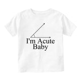 Im Acute Baby Baby Infant Short Sleeve T-Shirt White