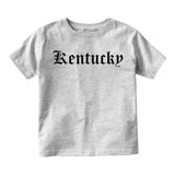 Kentucky State Old English Infant Baby Boys Short Sleeve T-Shirt Grey