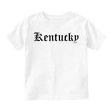 Kentucky State Old English Infant Baby Boys Short Sleeve T-Shirt White