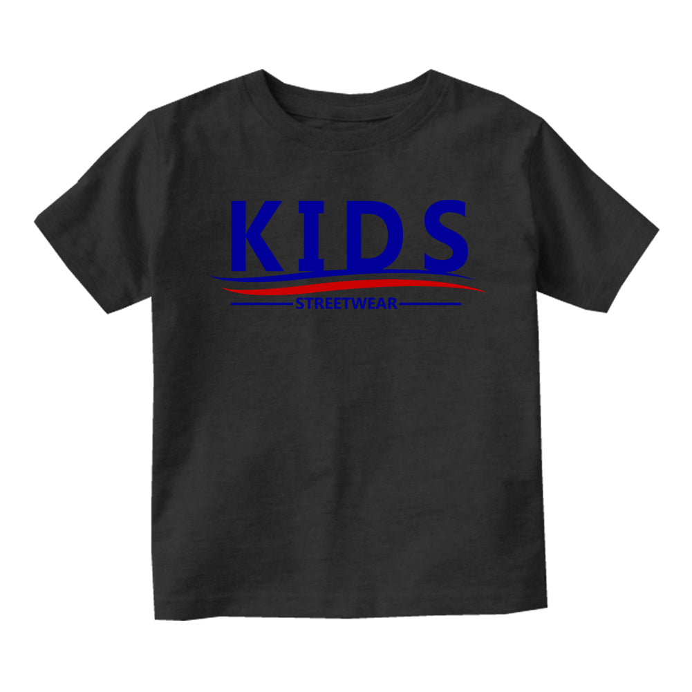 Kids Streetwear For President Infant Baby Boys Short Sleeve T-Shirt Black